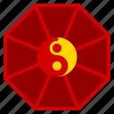 chinese, hexagon, shape, yang, year, yin, zodiac icon
