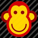 chinese, monkey, year, zodiac icon