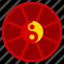 chinese, ellipse, yang, year, yin, zodiac icon