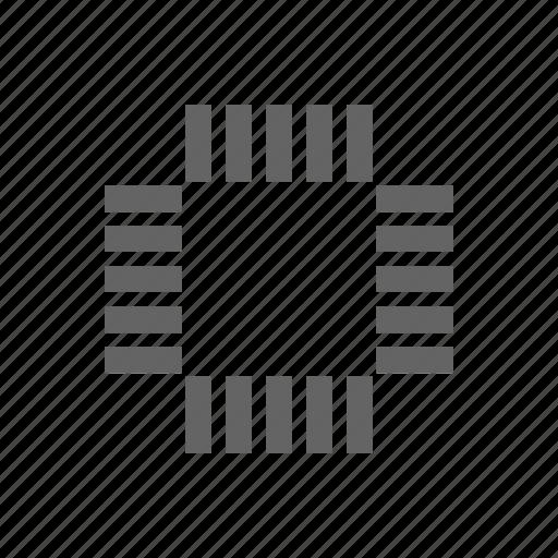 chip, computer, electronics, microscheme, scheme, technology icon