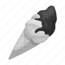 chocolate, cone, cream, dessert, food, ice, sweets icon