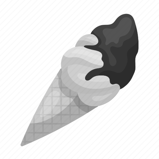 chocolate, cone, cream, dessert, food, ice, sweets icon