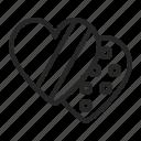 chocolate, choco, candy, love, gift icon
