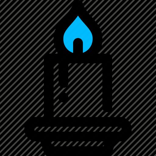 candle, celebration, light icon