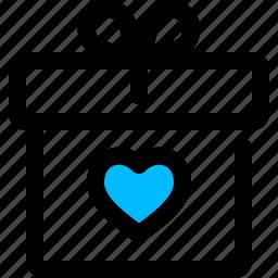 gift, present, valentine icon