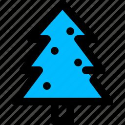 christmas, pine, tree, xmas icon