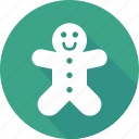 christmas, gingerbread, holiday, vacation, winter icon