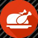 chicken, christmas, holiday, roast, vacation, winter icon