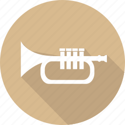 christmas, holiday, trumpet, vacation, winter icon