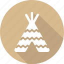 christmas, holiday, tent, vacation, winter icon