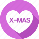 christmas, heart, holiday, mas, vacation, winter, x icon