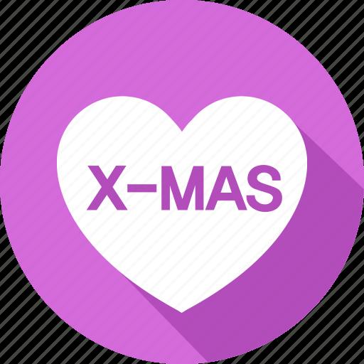 christmas, heart, holiday, mas, vacation, winter, x icon