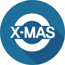 christmas, holiday, logo, mas, vacation, winter, x icon