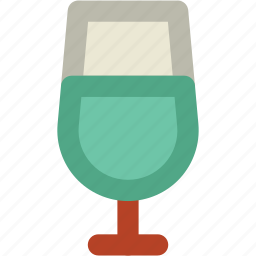 alcohol, beverage, cold drink, drink, juice glass, wine, wine glass icon