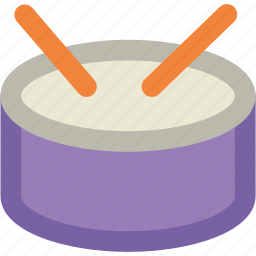 childrens drum, drum, hand drum, music, musical instruments, percussion icon