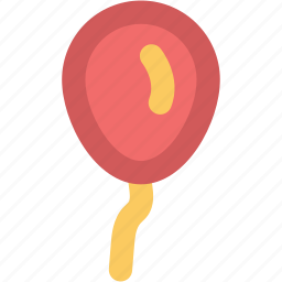balloon, birthday balloon, decoration balloon, party balloon, party decorations icon