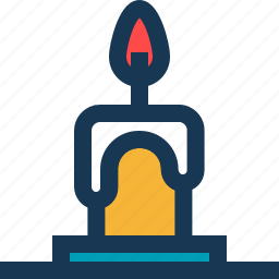 candle, christmas, fire, flame icon