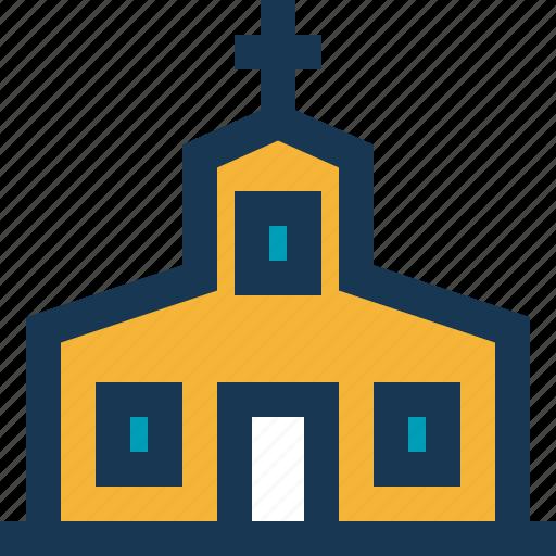 christmas, church, cross, door, window icon
