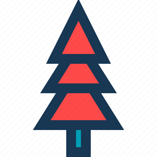 blue, christmas tree, red, tree icon