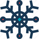 blue, circle, red, snow, snowflake icon