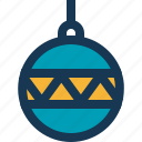ball, blue, christmas, circle, toy, yellow icon