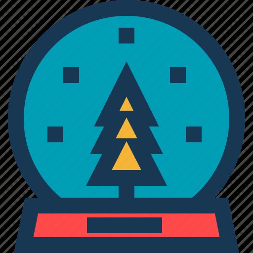 ball, christmas, circle, snowflake, toy, tree icon