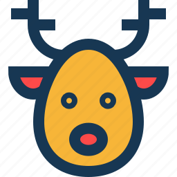 animal, antlers, deer, nose icon