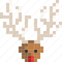 cariage, christmas, claus, deer, rudolf, santa icon