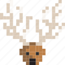 christmas, claus, deer, fly, holiday, rudolf, santa icon