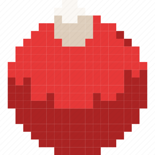 ball, christmas, decoration, pretty, red, toy, tree icon