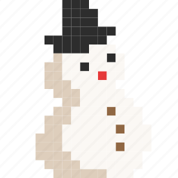 ball, christmas, hat, man, melt, snow, snowman icon