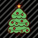 christmas, christmas tree, decoration, holiday, star, tree, winter