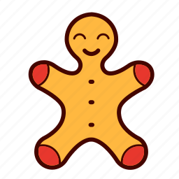 candy, christmas, cinnamon, decoration, frosting, gingerbread, man icon