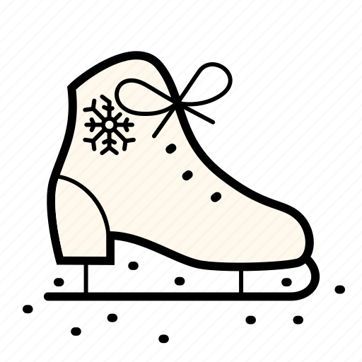 christmas, holiday, ice, skate, snow, sport, winter icon