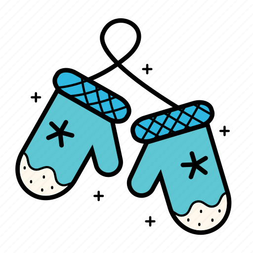 christmas, clothes, cold, glowes, holiday, mittens, snowflake icon