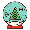 christmas, gift, snow, snowball, snowflake, snowglobe, tree icon