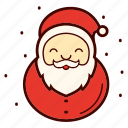 beard, christmas, happy, holiday, santa, santa clause, xmas icon