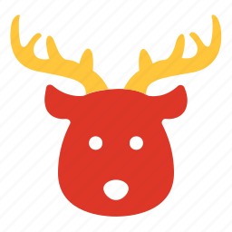 animal, christmas, deer, face, reindeer, santa, xmas icon