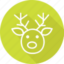 deer, festival, headpx, holiday, vacation icon
