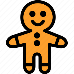 christmas, festival, gingerbread, holiday icon