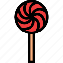 christmas, festival, holiday, lolipop icon