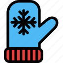 christmas, festival, holiday, mittens icon