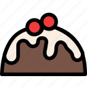 christmas, festival, holiday, pudding icon