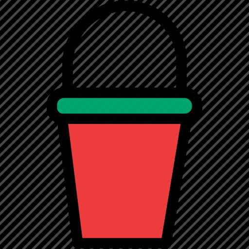 bucket, christmas, festival, holiday, sand icon