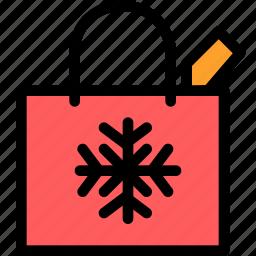 bag, christmas, festival, holiday, shopping icon