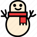 christmas, festival, holiday, snowman icon
