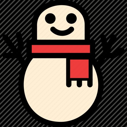 christmas, festival, holiday, snowman icon