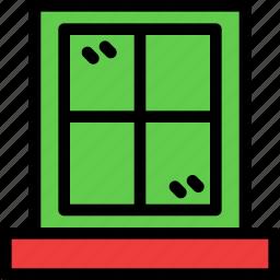 christmas, festival, holiday, window icon
