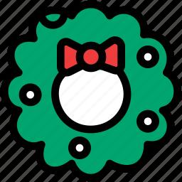 christmas, festival, holiday, wreath icon