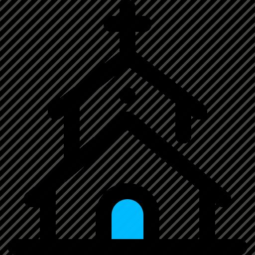chapel, church, religion icon